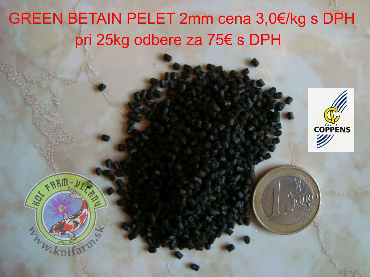 Green Betain Halibut 2mm cena 75€/25kg s DPH